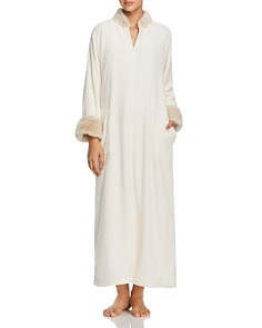 Natori - Alpine Faux Fur-Trim Long Zip Caftan - 100% Exclusive