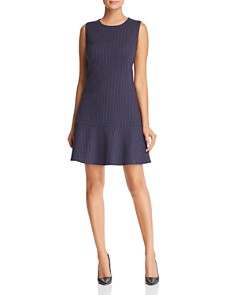 Le Gali - Chelsie Pinstriped Fit-and-Flare Dress - 100% Exclusive