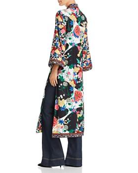 Alice and Olivia - Lynn Side-Slit Floral Print Kimono