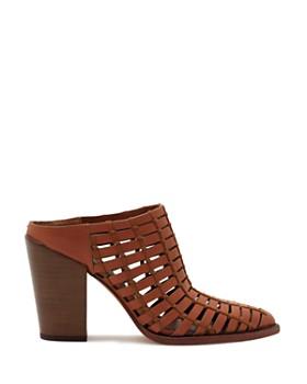 Dolce Vita - Women's Kacie Caged Leather Block Heel Mules