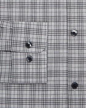 John Varvatos Star USA - Mélange-Plaid Slim Fit Dress Shirt