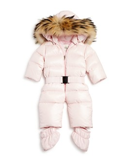 SAM. - Girls' Snowbunny Snowsuit with Fur-Trimmed Hood - Baby