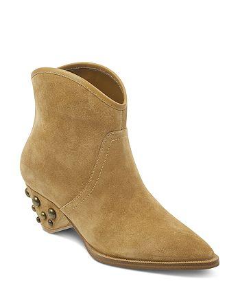 Marc Fisher LTD. - Women's Rippa Suede Studded Heel Booties