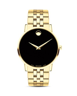 Movado - Museum Classic Yellow Gold-Tone Watch, 40mm