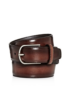 Canali Burnished Leather Belt - Bloomingdale's_0