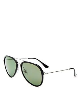 ... 57mm Ray-Ban - Unisex Brow Bar Aviator Sunglasses, 57mm 2547d05fc5