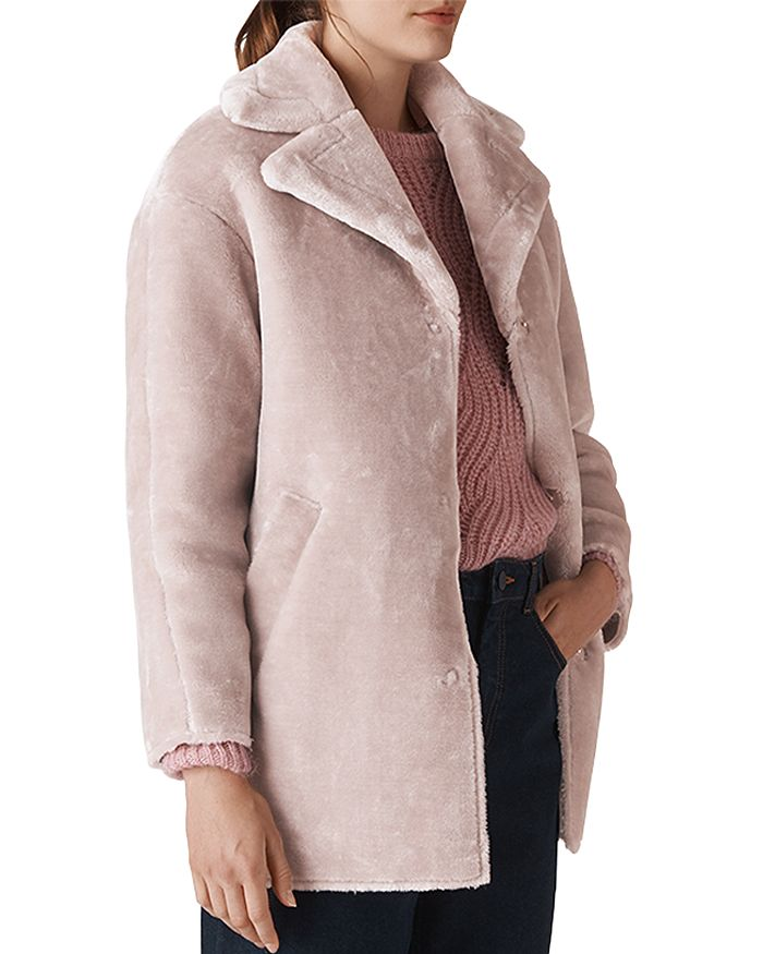 885d545bd0 Whistles Faux-Fur Cocoon Coat | Bloomingdale's