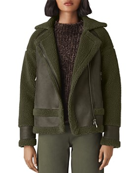 Whistles - Faux-Shearling Biker Jacket