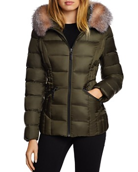 dfa0bdf90f02 Dawn Levy - Nikki Saga Fur Trim Short Down Coat ...