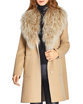 Dawn Levy - Cece Reversible Mongolian Sheep Shearling Trim Coat