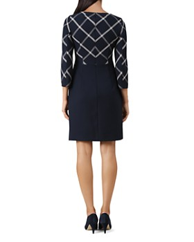 HOBBS LONDON - Carolyn Windowpane Sheath Dress