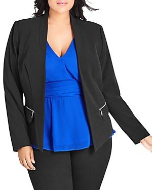 City Chic Plus Zip-Pocket Blazer
