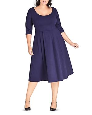 City Chic Plus Flared Midi Dress