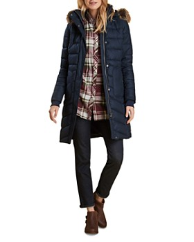 Barbour - Foreland Faux Fur Trim Quilted Jacket
