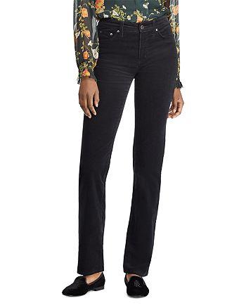 Jeans Ralph Straight Corduroy In Leg BlackBloomingdale's Lauren Polo Ifgv7Y6yb