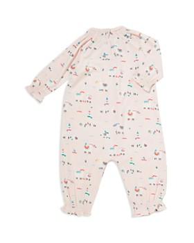 Angel Dear - Girls' Smocked Detail Llama Print Romper - Baby