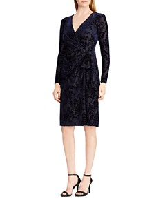 Ralph Lauren - Faux-Wrap Velvet Dress