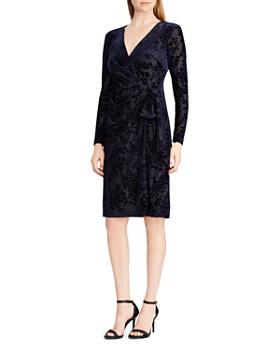 Ralph Lauren - Faux-Wrap Velvet Dress
