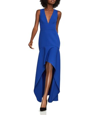 High/Low Crepe Gown   100 Percents Exclusive by Bcbgmaxazria