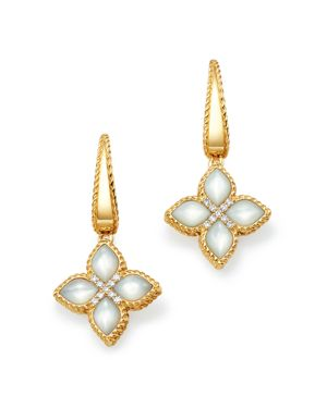 Roberto Coin 18K Yellow Gold Venetian Princess Diamond & Mother of Pearl Earrings