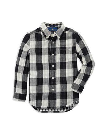 6ecfe3782 Ralph Lauren Boys' Reversible Twill Plaid Shirt - Little Kid ...