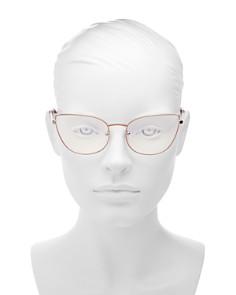 The Book Club - Women's Discount Off Jaunty Pisco Cat Eye Blue Screen Filter Glasses, 53mm