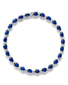 Bloomingdale's - Sapphire & Diamond Tennis Bracelet in 14K White Gold - 100% Exclusive