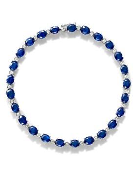 Bloomingdale's - Sapphire & Diamond Tennis Bracelet in 14K White Gold - 100% Exclusive