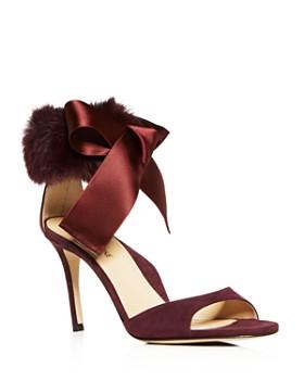 MARION PARKE - Women's Lucille Suede & Fur High-Heel Sandals