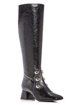 Burberry - Women's Aleigha Leather Block-Heel Boots