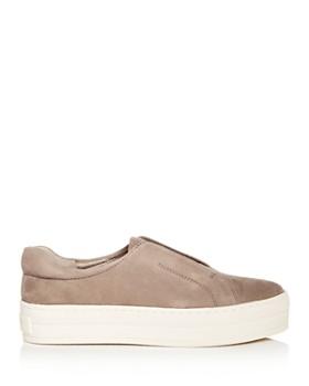 J/Slides - Women's Heidi Leather Slip-On Platform Sneakers