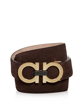 Salvatore Ferragamo - Men's Double Gancini Suede Belt