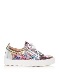 Giuseppe Zanotti - Women's Glitter Low-Top Platform Sneakers