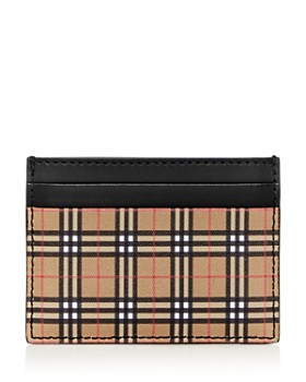 Burberry - Sandon Mini Vintage Check Leather Card Case