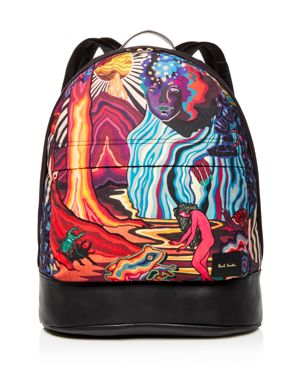 PAUL SMITH Dreamer Printed Canvas Backpack in 53.Printed