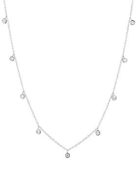 """AQUA -  Multi Pendant Chain Necklace in 18K Gold-Plated Sterling Silver, 18K Rose Gold-Plated Sterling Silver or Sterling Silver, 14"""" - 100% Exclusive"""