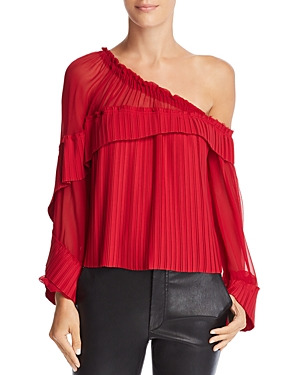 Ramy Brook Aurora Pleated Off-the-Shoulder Top