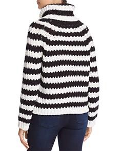 Elan - Striped Chunky-Knit Turtleneck Sweater