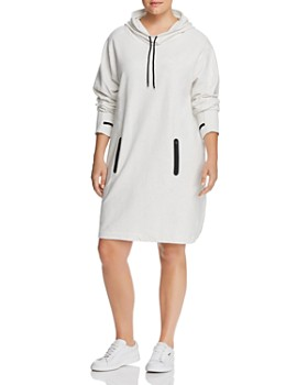 Marc New York Plus - Hooded Funnel-Neck Dress