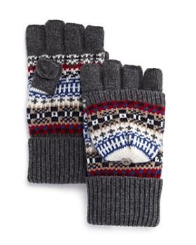The Men's Store at Bloomingdale's - Fair Isle Pop Top Gloves - 100% Exclusive