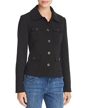 Karl Lagerfeld Paris Lightweight Utility Jacket-Women