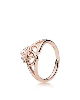 PANDORA - United Regal Hearts Rose Gold Tone-Plated Sterling Silver Ring