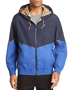 Burberry Elworth Color-Block Hooded Jacket