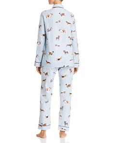 PJ Salvage - Doggone Tired Dog Print Flannel Cotton Pajama Set