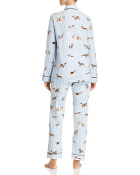 PJ Salvage - Doggone Tired Dog Print Flannel Cotton Pajama Set