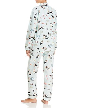 PJ Salvage - That's How I Roll Sushi Print Flannel Cotton Pajama Set