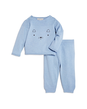 Miniclasix Boys Embroidered Sweater  Knit Pants Set  Baby