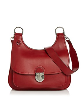 Tory Burch - James Medium Leather Saddle Bag
