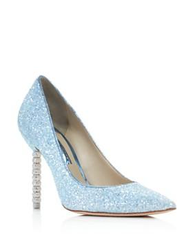 Sophia Webster - Women's Coco Crystal 100 Glitter Pointed-Toe Pumps