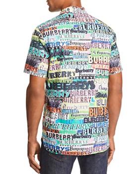 Burberry - Edwards Logo-Print Short-Sleeve Regular Fit Shirt